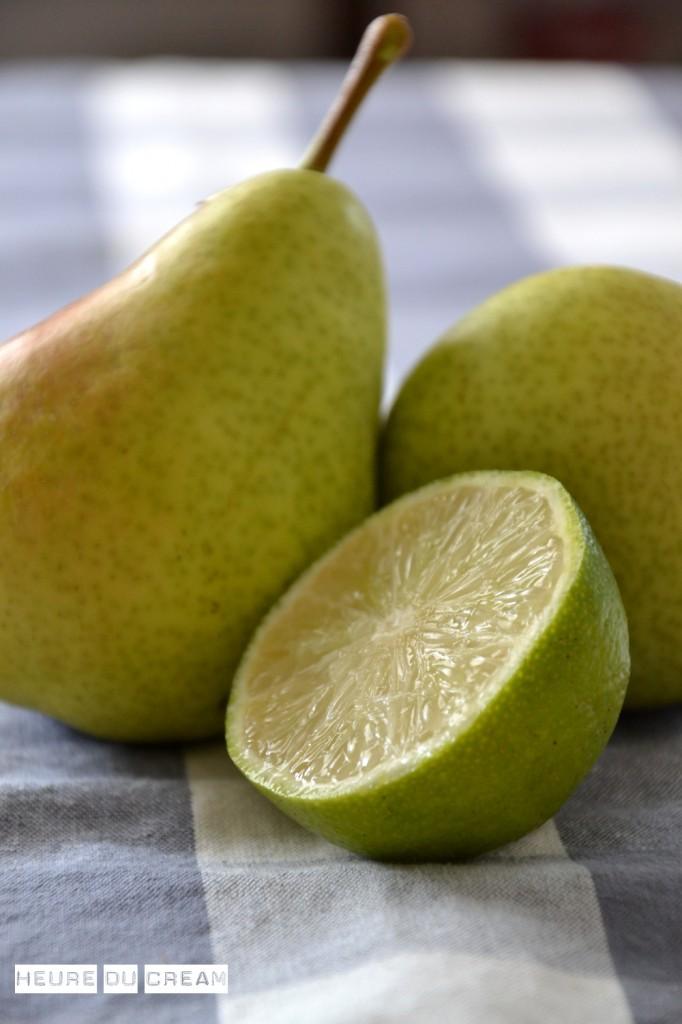 crumble poires citron