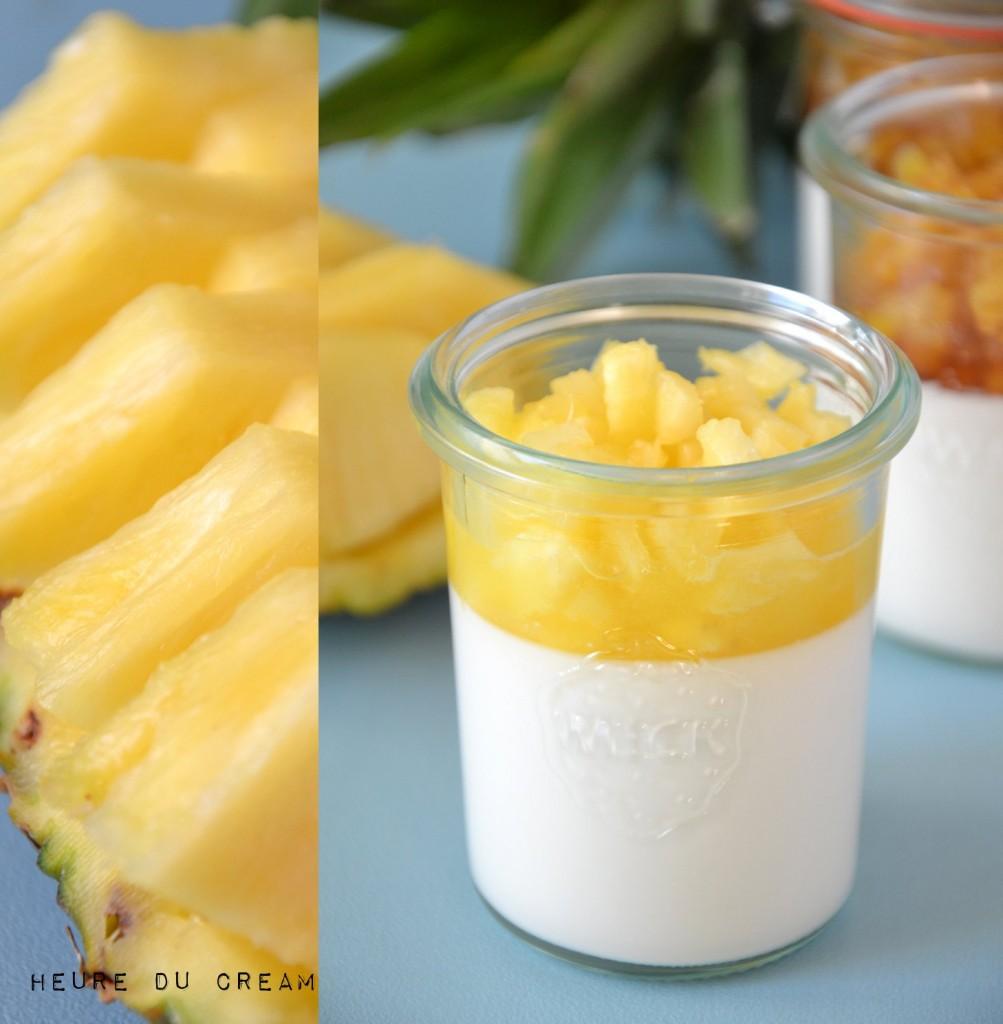 panna cotta coco ananas