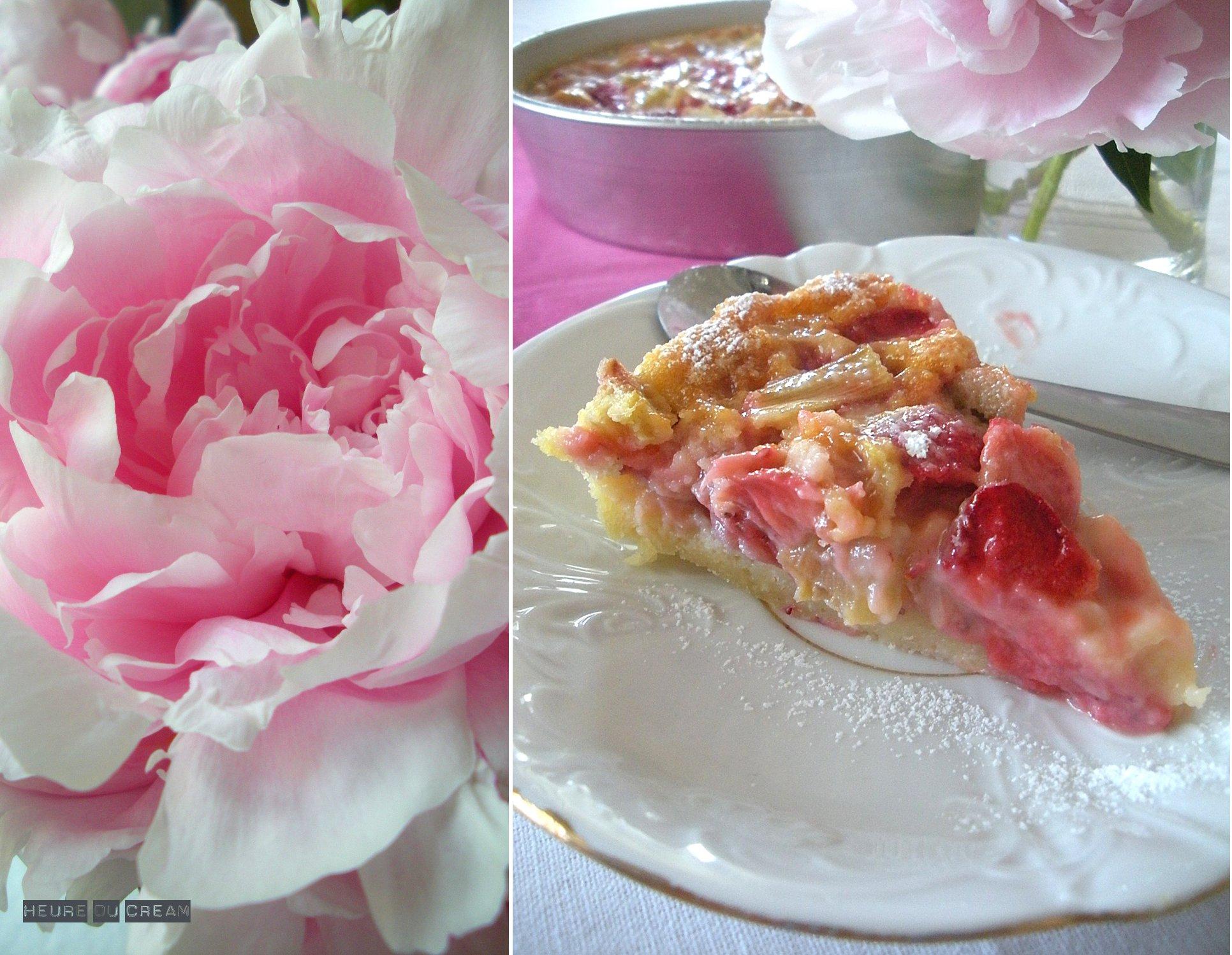 cobbler fraise rhubarbe