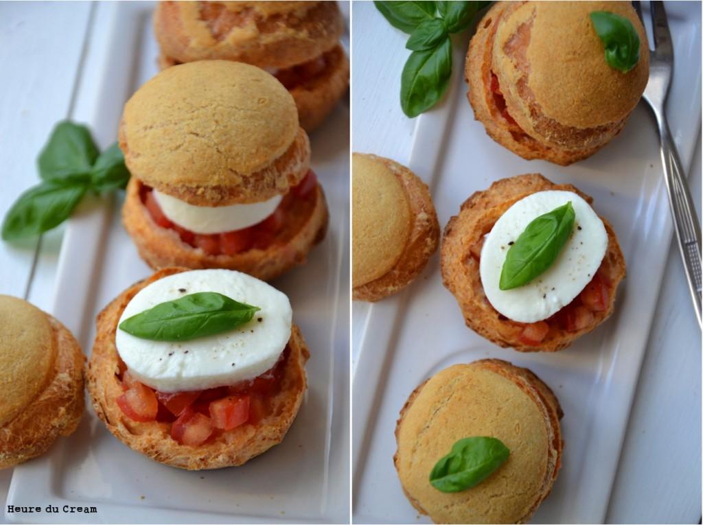choux caprese tomate mozzarella