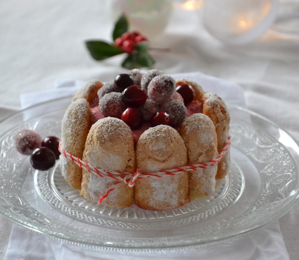 Mini-charlottes aux cranberries et à la poire