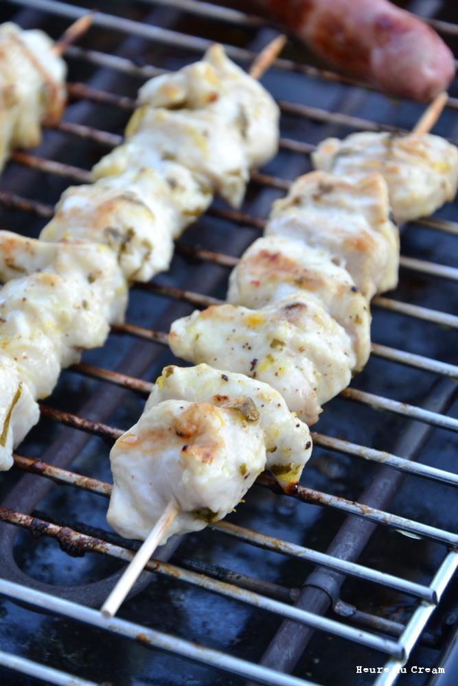 brochettes de poulet citron coriandre