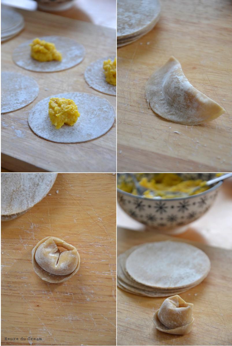 Tortellini à la courge et aux champignons