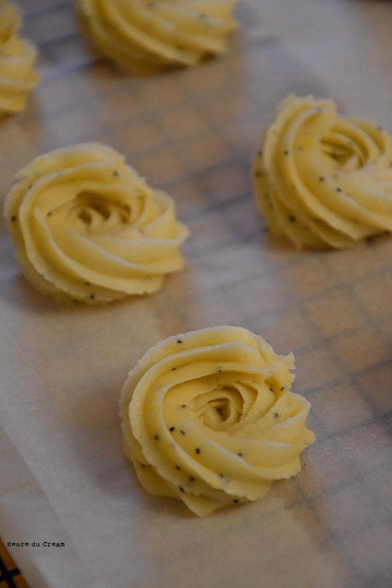 Rosaces vanille et citron pavot