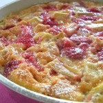 Cobbler fraise-rhubarbe