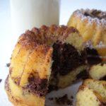 Mini-kouglofs marbrés (vanille-chocolat)
