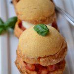 Choux façon caprese, tomate mozzarella