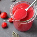 Cranberries curd
