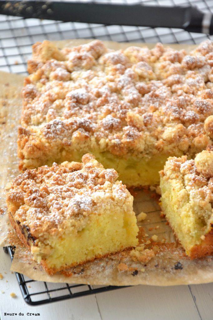 crumb cake à la rhubarbe