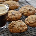 Cookies café, noix de pécan et chocolat au lait