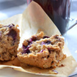 Muffins aux myrtilles et flocons d'avoine
