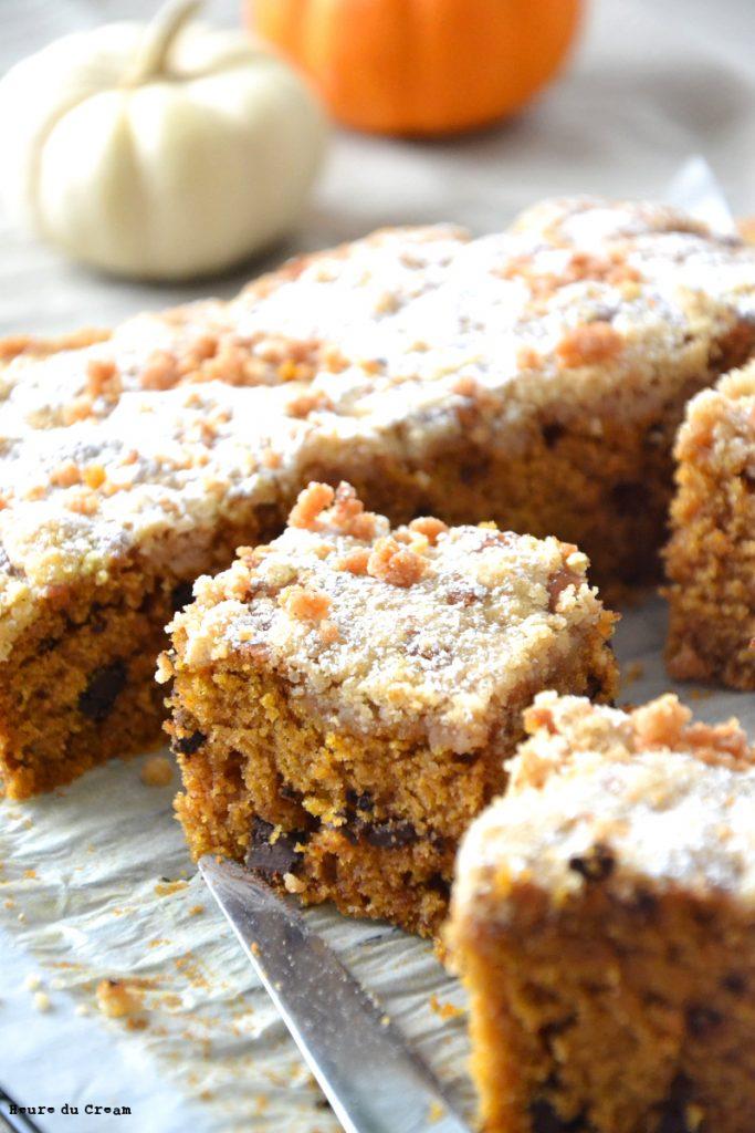 Crumb cake au butternut et pépites de chocolat