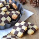 Sablés damiers vanille chocolat